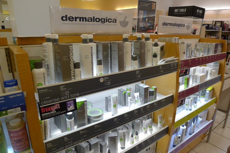 Photo: After browsing with hubby, I ventured over to the middle of the store to check out their skin care product lines. I was pleasantly surprised to see that the Dermalogica skin care line was available at Ulta. I recently had a facial done at The Salon Professional Academy New Jersey which is the Redken beauty school, and they exclusively use Dermologica products for their facial treatments.