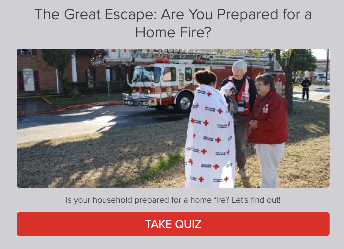 Are you prepared for a home fire quiz cover