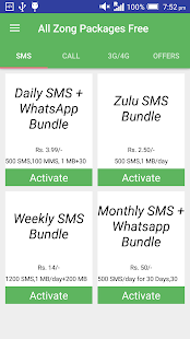 All Zong Packages Free - náhled