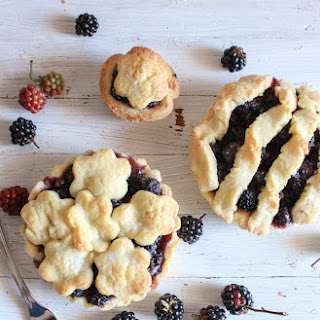Fresh Blackberry Mini Pies.