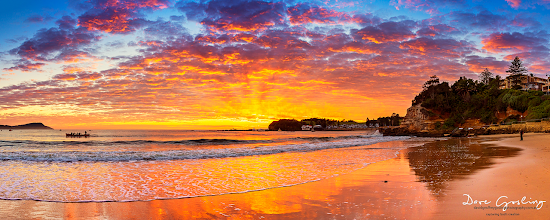 Photo: Awesome sunrise for Anzac day at Terrigal