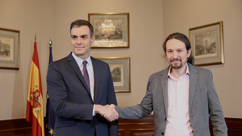 PSOE y Podemos alcanzan un principio de acuerdo para un gobierno de coalición.