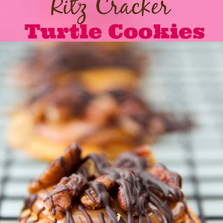 Ritz Cracker Turtle Cookies.