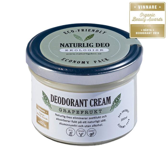 Naturlig Deo - Grapefrukt Economy Pack 200 ml