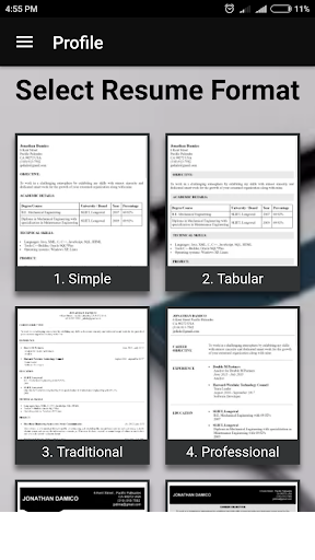 Free resume builder CV maker templates PDF formats 7.8 screenshots 4