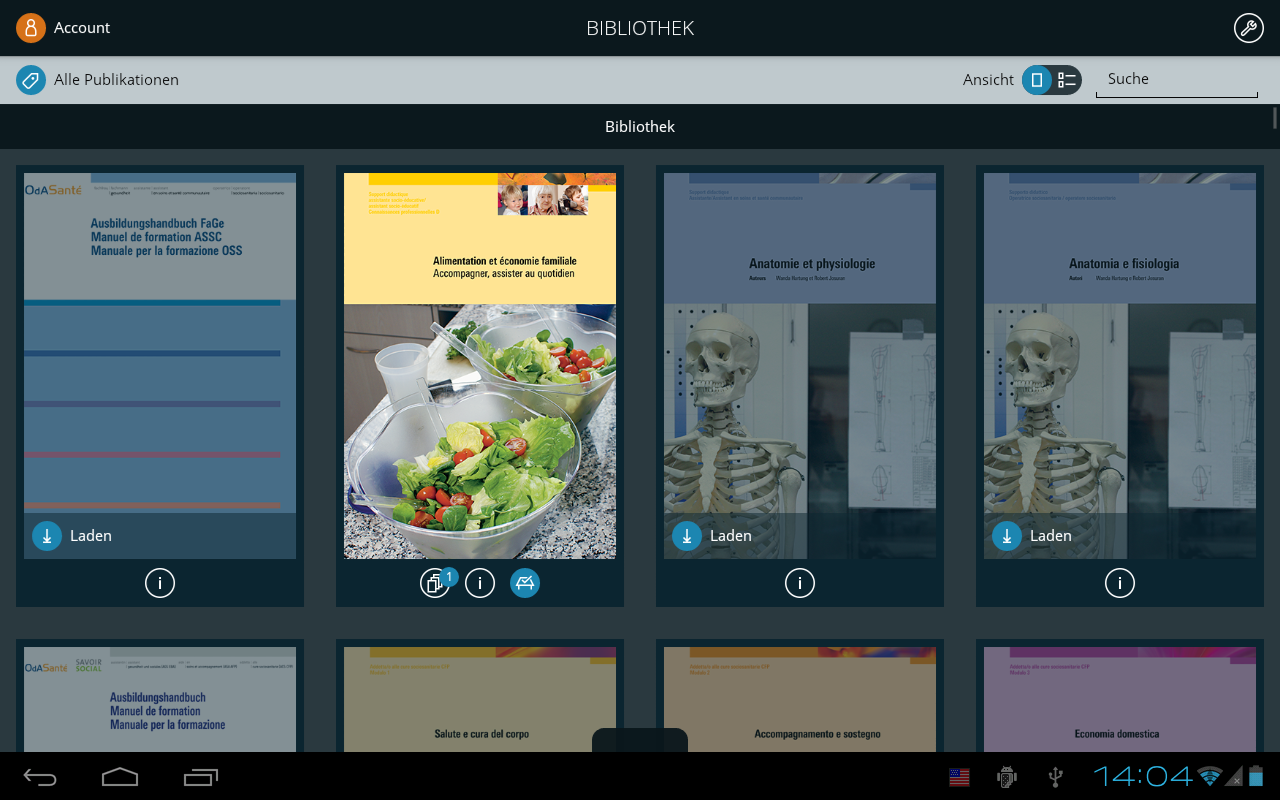 Careum Verlag – Screenshot