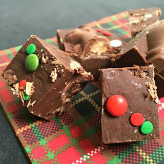 Easy Malteser Reindeer Chocolate Fudge.