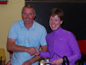 Photo: Aine Hennessy, winner of O/40 Ladies Prize