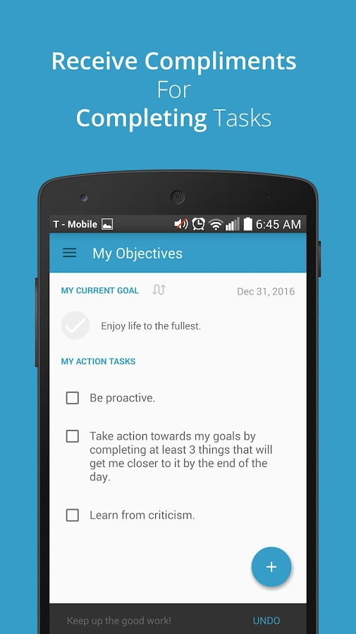 Goal Striver: To-Do List App- screenshot