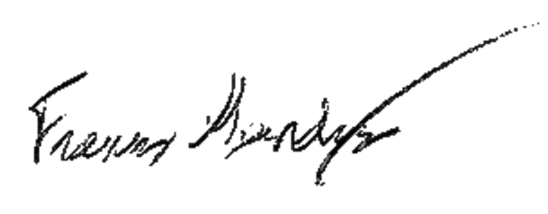 signature Francis Gendron