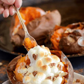 Fully Loaded Sweet Potatoes.