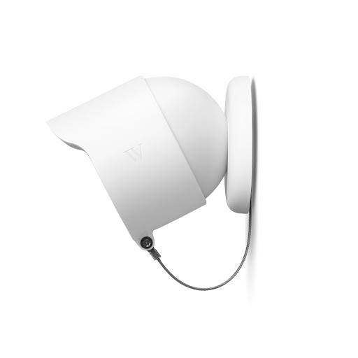 Side view of Wasserstein Anti-Theft Mount for Google Nest Cam (outdoor or indoor, battery) against a wall