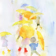 Children with Yellow Umbrellas - Google Cultural Institute