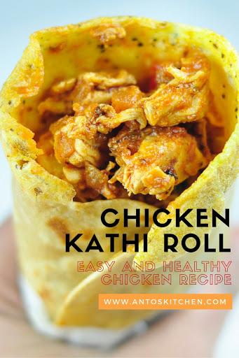 chicken kati roll