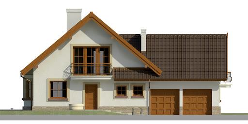 Dom przy Cyprysowej 37 - Elewacja przednia