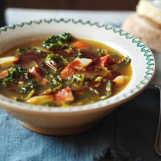 Caldo verde (Portuguese cabbage soup).