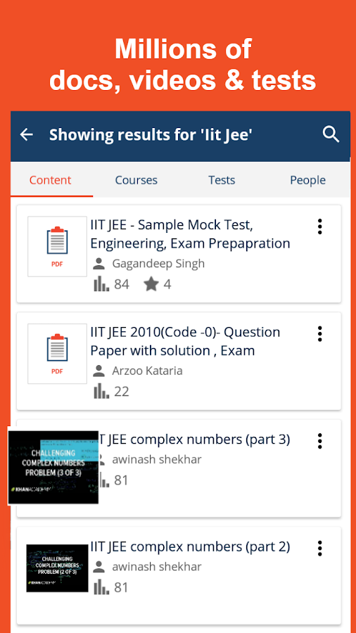 JEE MAINS Tests/Notes/Videos- screenshot