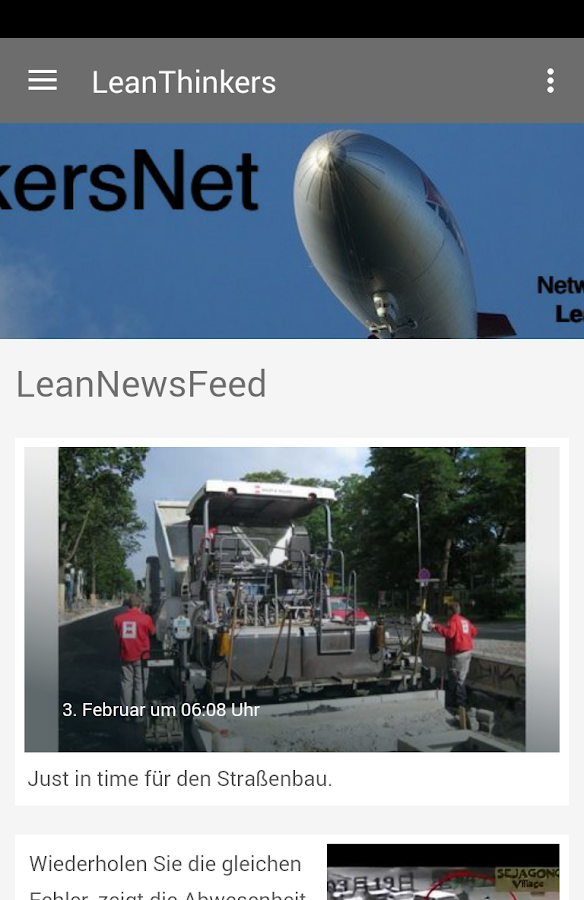 LeanThinkersNet – Screenshot