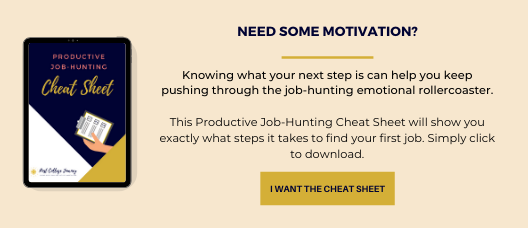 staying motivated - produtive job-hunting cheatsheet optin image
