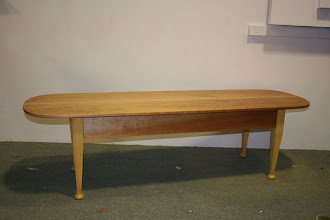 Photo: John's KD table made to taketo family o/s as hand luggage and be assembled there Qld Maple