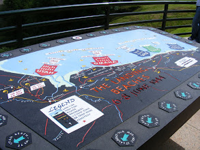 Photo: On the overlook, a map of the D-Day events.