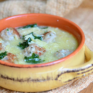 Italian Wedding Soup with Turkey Meatballs and Orzo