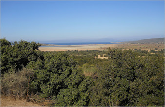 Photo: View from Scimitar Hill, looking towards the Salt Lake, 'A' Beach and Suvla Bay.  Photograph courtesy of Andrew MacKay. ©