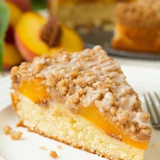 Peach Crumb Cake.
