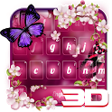 3D Orchid Flowers Butterfly Keyboard Theme icon