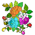 Flowers Color by Number: Crayon + Glitter Painting APK