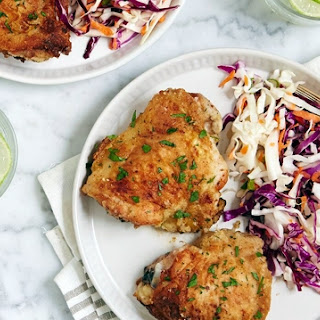 Parmesan-Ranch Chicken Thighs.