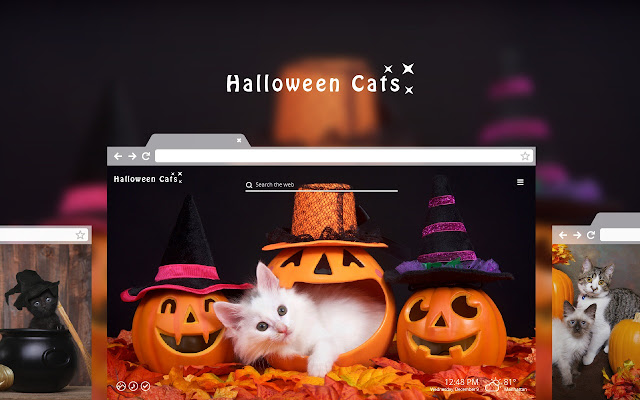Halloween Cats HD Wallpaper New Tab Theme