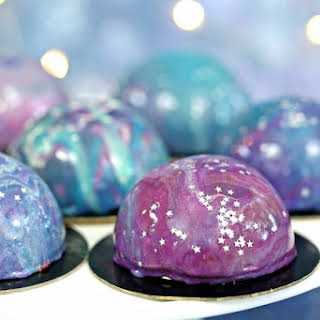 Galaxy Mousse Cakes.