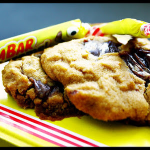 Cookies with Caramel Candy Bars