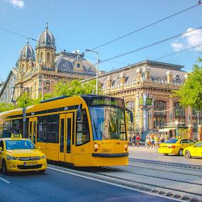 by Mo Kazemi - Transportation Other ( street, taxi, yellow, budapest )