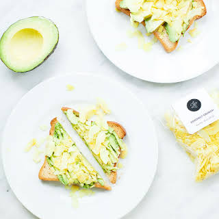 Avocado Toast with Curry Coconut Crunch.