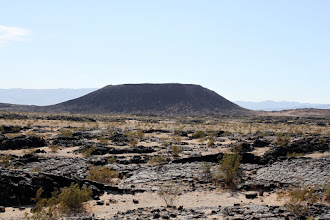 Photo: Amboy crater. This was a big bummer. It was hot as hell and we were short on time, so no hikes here