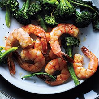 Roasted Shrimp and Broccoli.