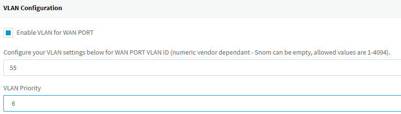 VLAN Configuration available for supported IP Phones