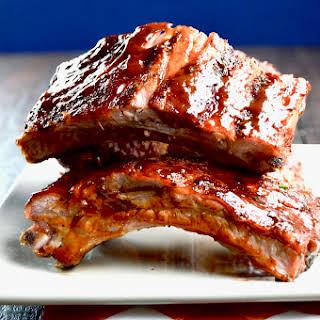 Fall off the bone tender BBQ Ribs.