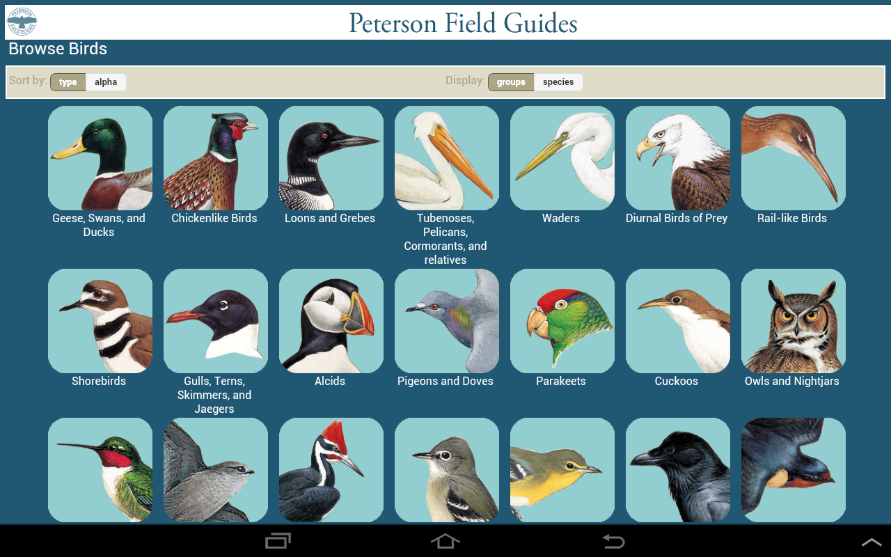 peterson birds north america android apps on google play