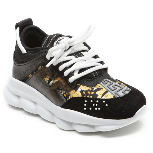 Thumbnail images of Young Versace Patterned Trainer