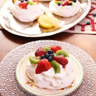 Berry Topped Mini Pavlovas