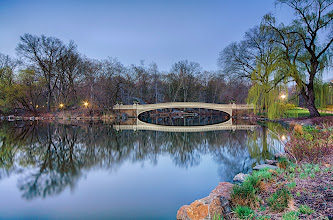 Photo: Another shot from a few nights ago... Love the calm water in Central Park and surprisingly the park was pretty empty! Can't wait for all the trees to start blooming!!  #sunsetphotography  #nyc