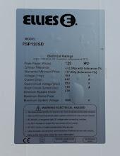 Photo: Ellies solar panel FSP120SD ratings