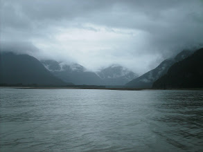 Photo: The Katzehin River flowes into Chilkoot Inlet through the Kakuhan Mountains.