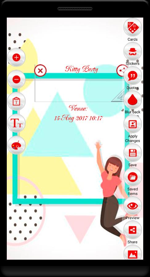 Kitty party invitation cards maker android apps on google play kitty party invitation cards maker screenshot stopboris Choice Image