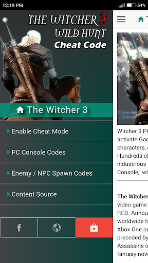 Download Cheat Codes for WITCHER 3 Game Google Play