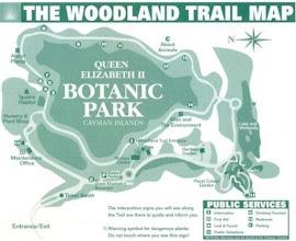 Photo: Queen Elizabeth II Botanic Park map - Woodland Trail Grand Cayman