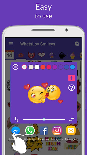 💘 WhatsLov: Smileys of love, stickers and GIFs screenshot